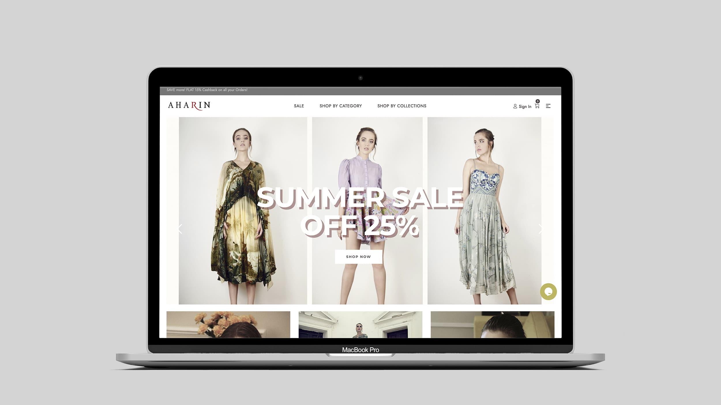 Aharin Website Design